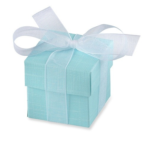 Turquoise Favour Box With Lid x10