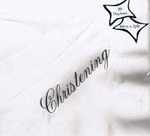Large Christening Foil Printed Napkins x 15