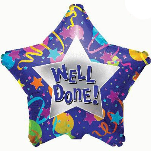 "18"" Well Done Foil Balloons"