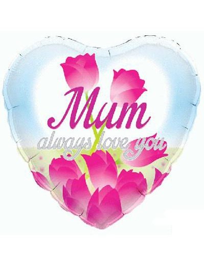"18"" Mum Always Love You Foil Balloons"