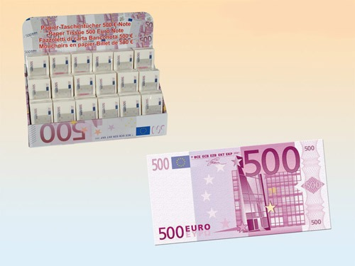 500 Euro Note Paper Tissue
