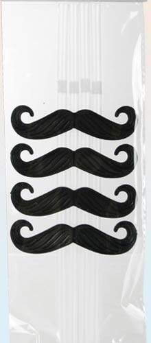 Moustache Drinking Straws 4pc