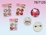 Hello Kitty Badges x4