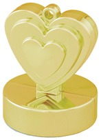 Qualatex Gold Heart Balloon Weight