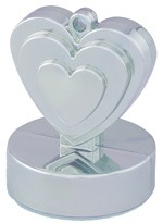 Qualatex Silver Heart Balloon Weight
