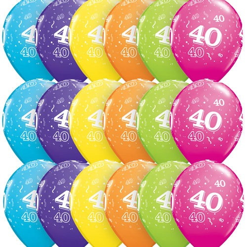 "11"" 40 Tropical Assorted Latex Balloons 50pk"