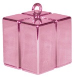 Qualatex Pink Gift Box Balloon Weight