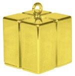 Qualatex Gold Gift Box Balloon Weight