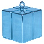 Qualatex Pearl Light Blue Gift Box Balloon Weight