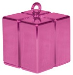 Qualatex Magenta Gift Box Balloon Weight