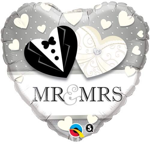 "18"" Mr And Mrs Wedding Foil Balloons"