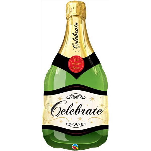 Celebrate Champagne Bottle Balloons