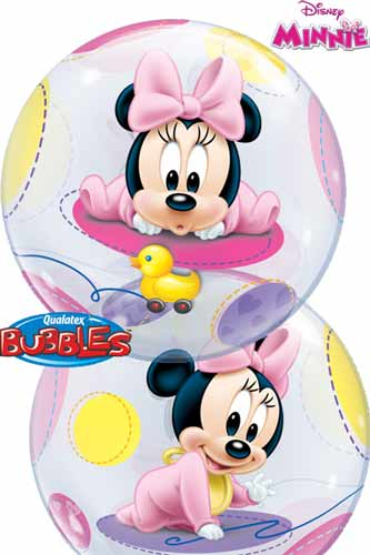 "22"" Baby Minnie Single Bubble Balloons"