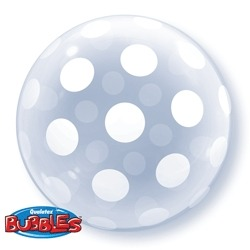 "20"" Polka Dots Deco Bubble Balloons"