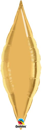 "13"" Metallic Gold Taper Air Fill Foil Balloon"