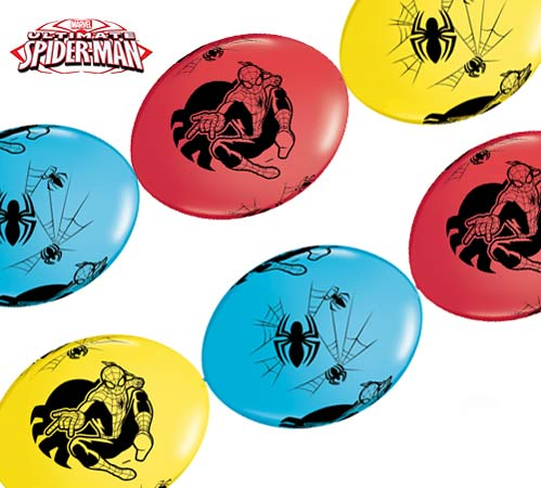 "12"" Spider-Man Quick Link Latex Balloons 50pk"