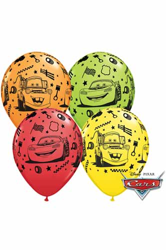 "11"" Lightning McQueen Latex Balloons 25pk"