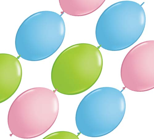 "12"" Pastel Assortment Quick Link Party Banner Balloons 10pk"