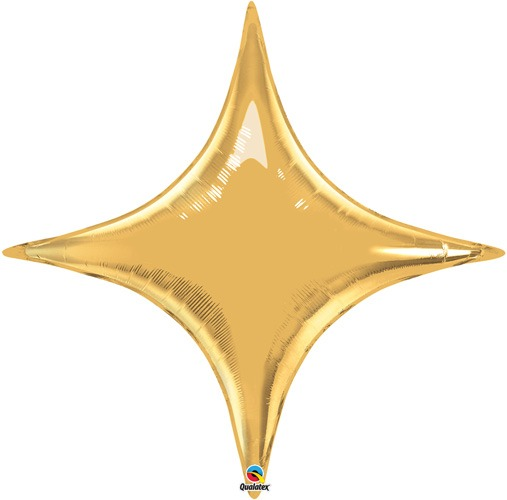 "20"" Metallic Gold Starpoint Air Fill Foil Balloon"