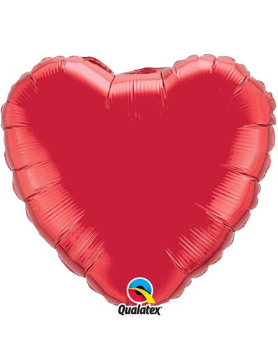 "9"" Ruby Red Heart Foil Balloon"