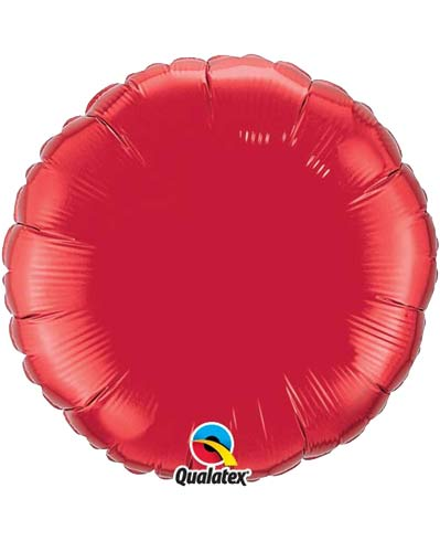 "9"" Ruby Red Round Foil Balloon"
