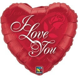 "18"" I Love You Roses Foil Balloons"