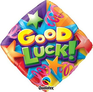 "18"" Good Luck Stars And Streamers Foil Balloons"