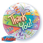 "22"" Thank You Streamers Single Bubble Balloons"