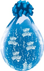 "18"" Happy Birthday-A-Round Stuffing Latex Balloons 25pk"