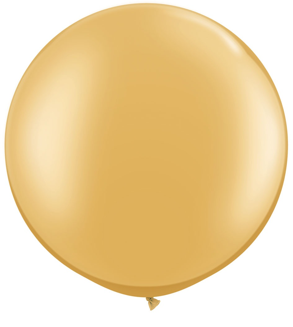 "30"" Metallic Gold Latex Balloons 2pk"