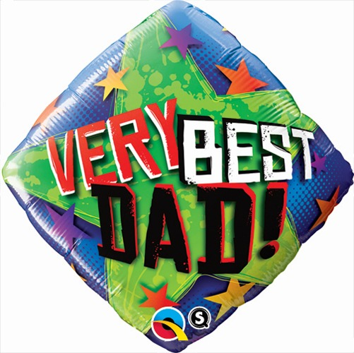 "18"" Very Best Dad Stars Foil Balloons"