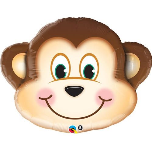 "14"" Mischievous Monkey Air Fill Balloons"