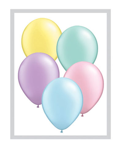 "5"" Pastel Pearl Assorted Latex Balloons 100pk"