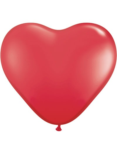 "6"" Red Heart Latex Balloons 100pk"