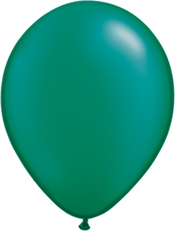 "11"" Pearl Emerald Green Latex Balloons 100pk"