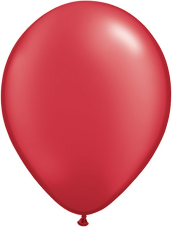 "11"" Pearl Ruby Red Latex Balloons 100pk"