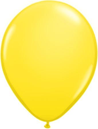"11"" Yellow Latex Balloons 100pk"