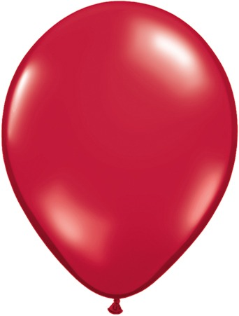 "16"" Ruby Red Latex Balloons 50pk"