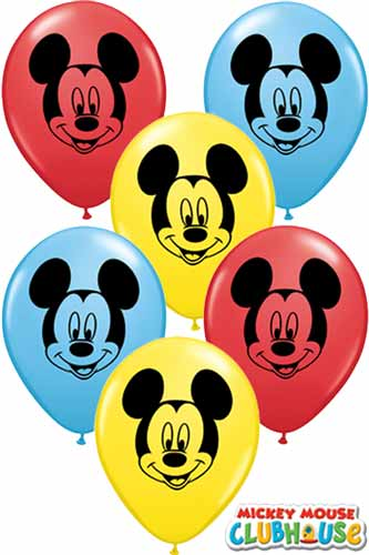 "5"" Mickey Mouse Face Latex Balloons 100pk"