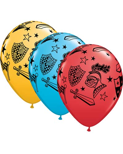 "11"" Knights And Armour Latex Balloons 25pk"