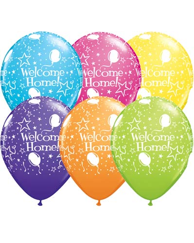 "11"" Welcome Home Stars Latex Balloons 25pk"