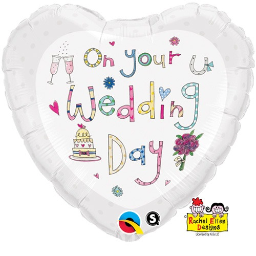 "18"" On Your Wedding Day Foil Balloons"