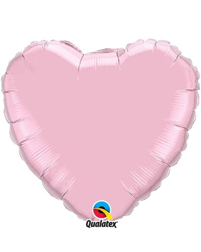 "9"" Pearl Pink Heart Foil Balloon"