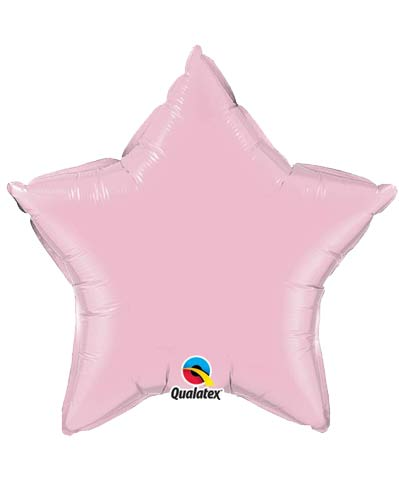 "20"" Pearl Pink Star Microfoil Balloon"