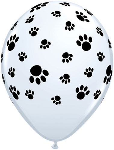 "11"" Paw Prints Latex Balloons 25pk"