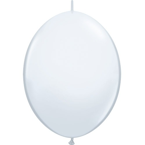 "12"" White Quick Link Latex Balloons 50pk"