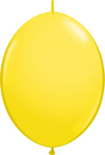 "12"" Yellow Quick Link Latex Balloons 50pk"