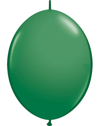"12"" Green Quick Link Latex Balloons 50pk"