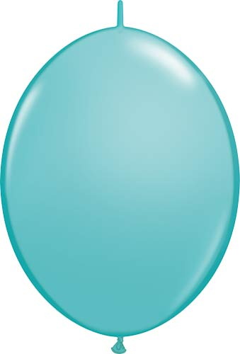 "12"" Caribbean Blue Quick Link Latex Balloons 50pk"