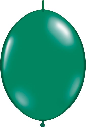 "12"" Emerald Green Quick Link Latex Balloons 50pk"